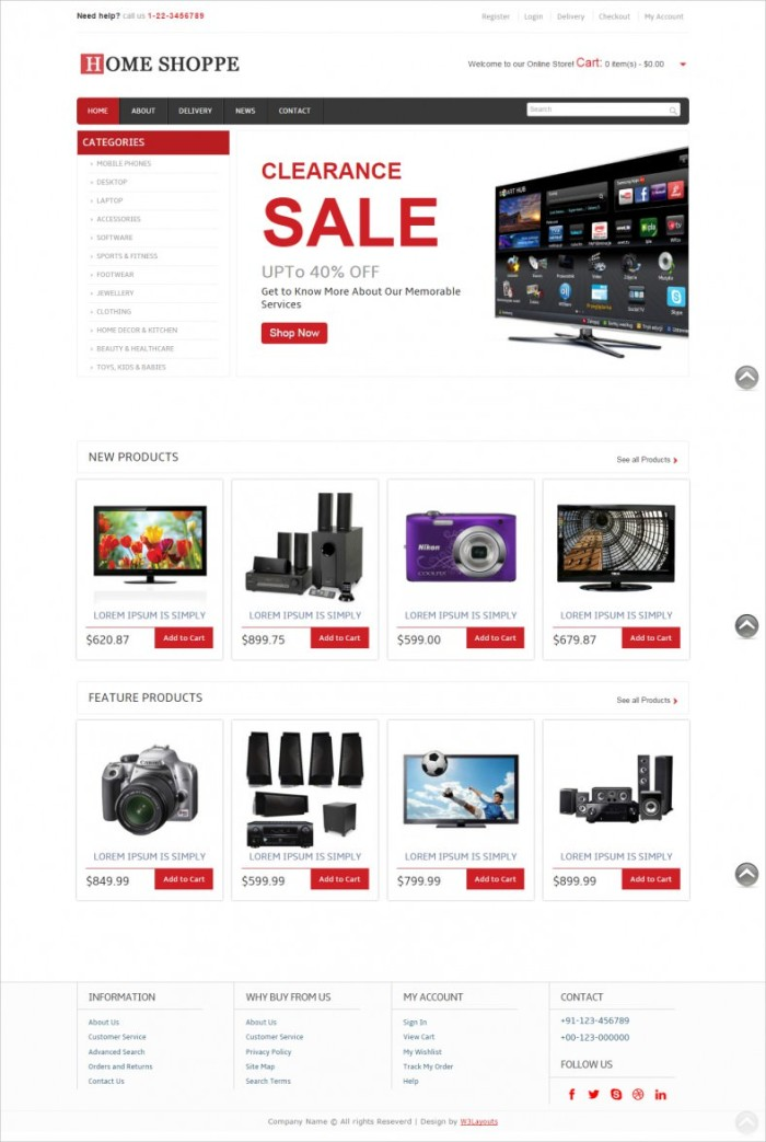 Free-Online-Shopping-Ecommerce-Mobile-Website-Template