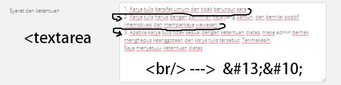 endangcahyapermana-html-br-textarea-specialchar
