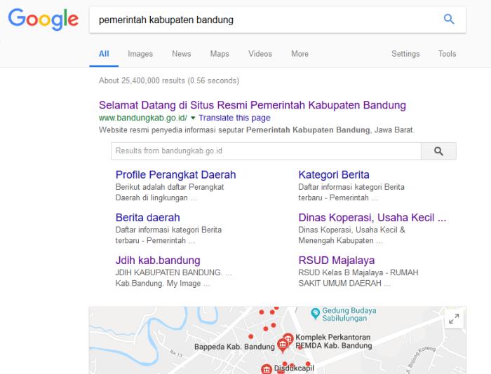 sitelink-google-bandungkab