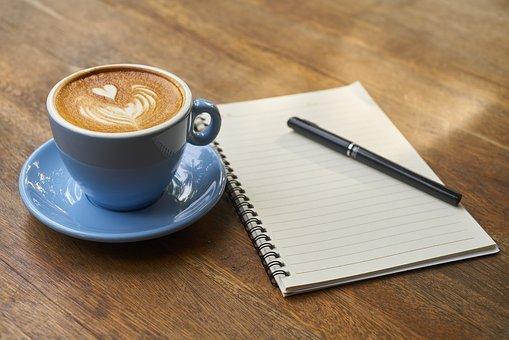 coffee-book-pen
